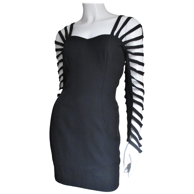 Sophie Sitbon Cage Sleeve Detailed Back Dress