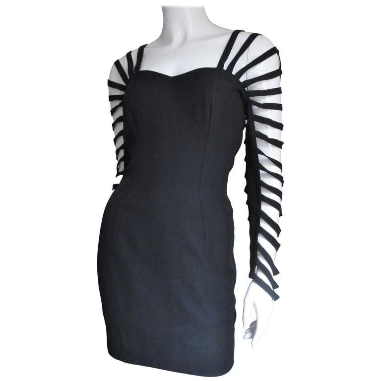 Sophie Sitbon Cage Sleeve Detailed Back Dress For Sale