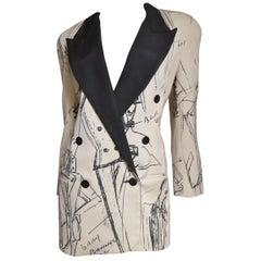 Randolf Duke Jacket with Fashion Model Sketch Print