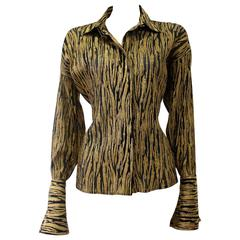 Early Gianni Versace Couture Gold-Black Lurex Shirt