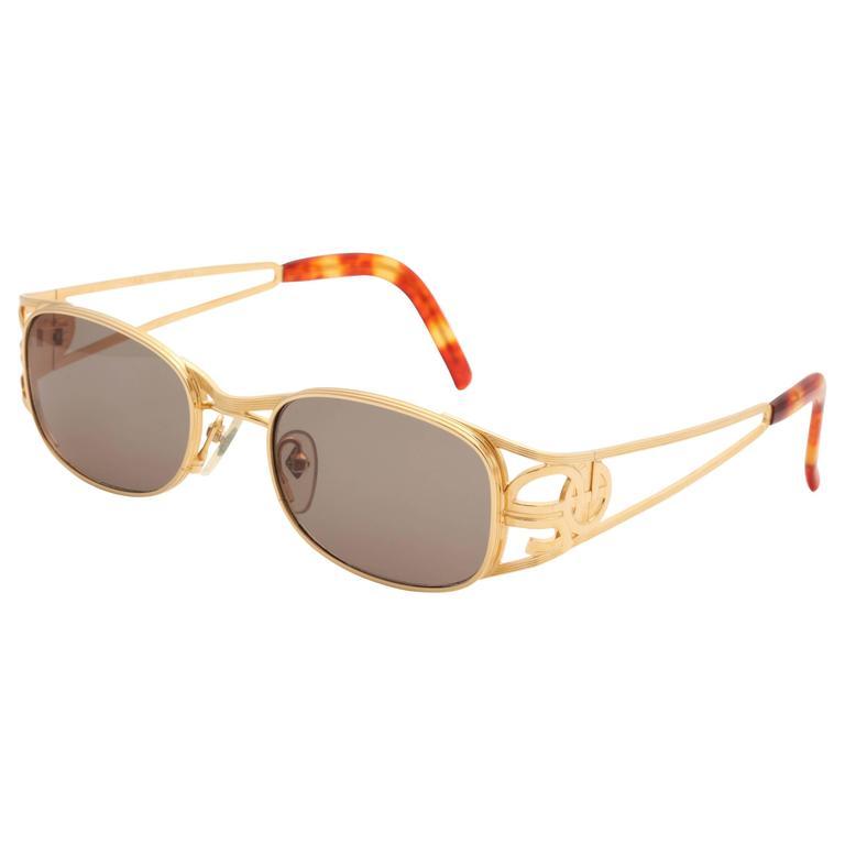 Gold vintage Jean Paul Gaultier Sunglasses 58-5101 1