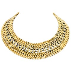 Edouard Rambaud Paris Chunky Curb Ball Chain Choker Necklace, 1980s