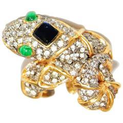 Rare & gorgeous KJL snake ring 60s
