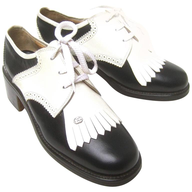 873068a883e Gucci Womens Rare Leather Brogue Golf Shoes c 1980s at 1stdibs