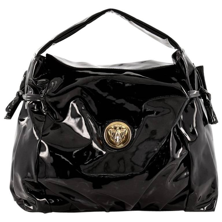 Gucci Hysteria Fold Over Hobo Patent Medium at 1stdibs 083b18c55ce77