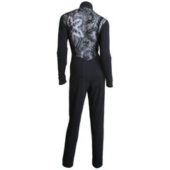 1990s Byblos Lace Back Catsuit