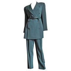 Claude Montana 1980s Jacket, Skirt and Pants Suit