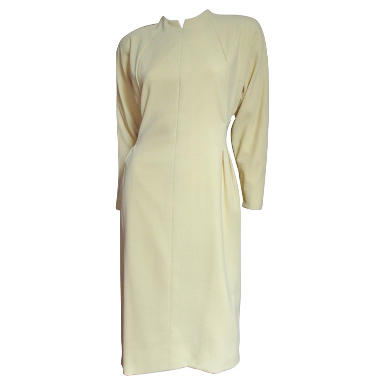 1970s Pauline Trigere Dress with Seaming For Sale