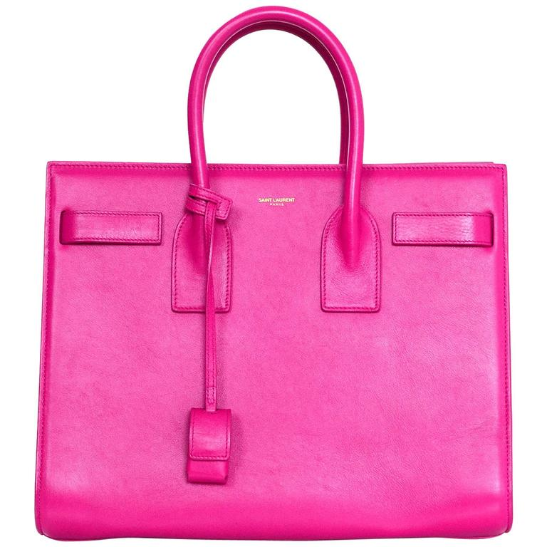 Saint Laurent Pink Small Sac De Jour Tote Bag w/ Strap 1