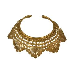 Dominique Favey Gilded Bronze Lace Collar