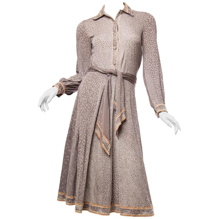 Leonard Custom 1970s Silk Jersey Dress