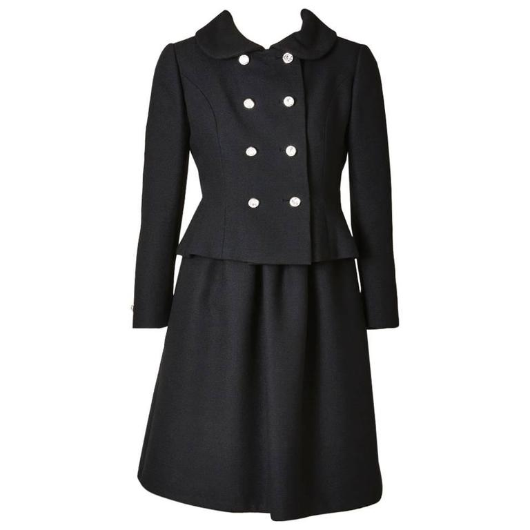 Norman Norell Wool Crepe Dress and Jacket DInner Ensemble