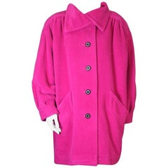 Yves Saint Laurent Fushia Wool Coat
