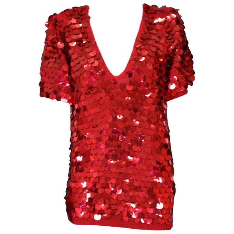 Ruby Paillettes T Shirt