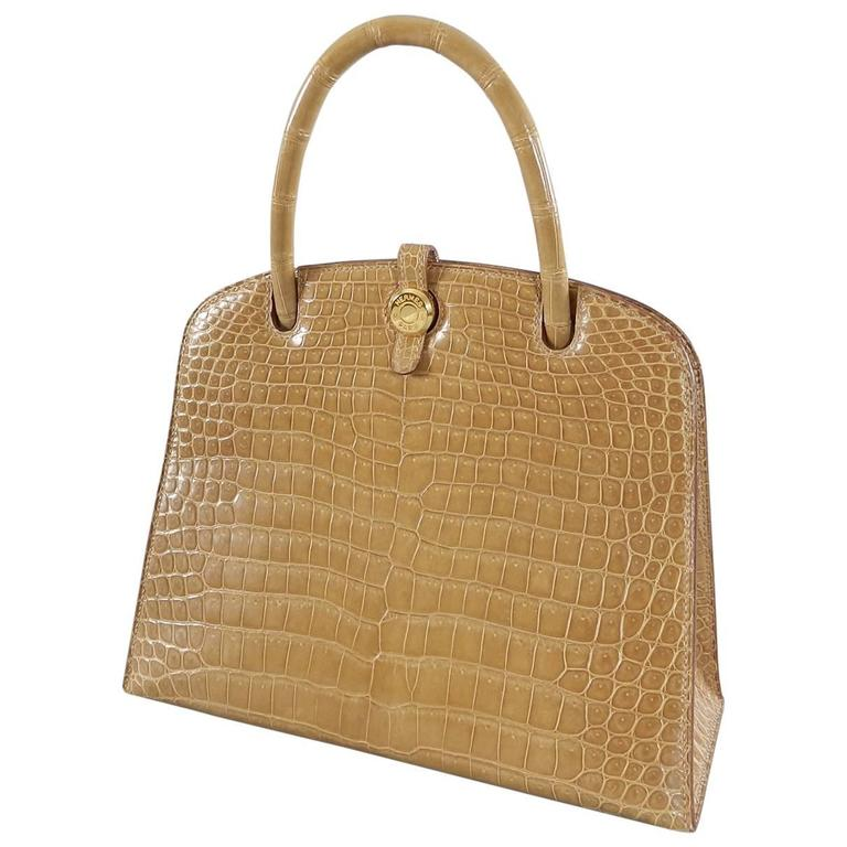 Hermes Dalvy Crocodile 25cm - Vintage 1998 For Sale