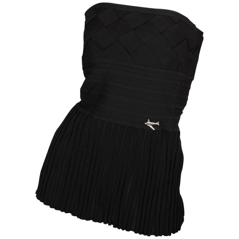 Chanel Strapless Top - black 1