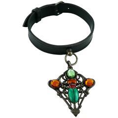 Jean Paul Gaultier Vintage Scarab Dog Collar Necklace