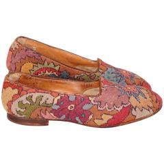 Amazing Gents Handmade Needlepoint Evening Slippers