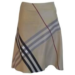 Burberry London Lambskin Leather Skirt 14UK