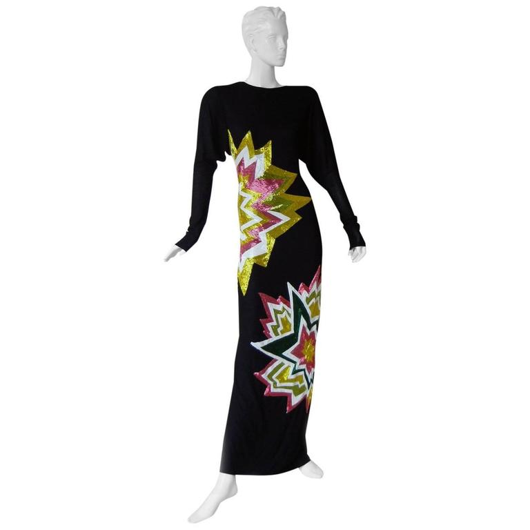 Tom Ford Lichtenstein-esque Ka-Pow Explosive Appliques Dress Gown - New 1