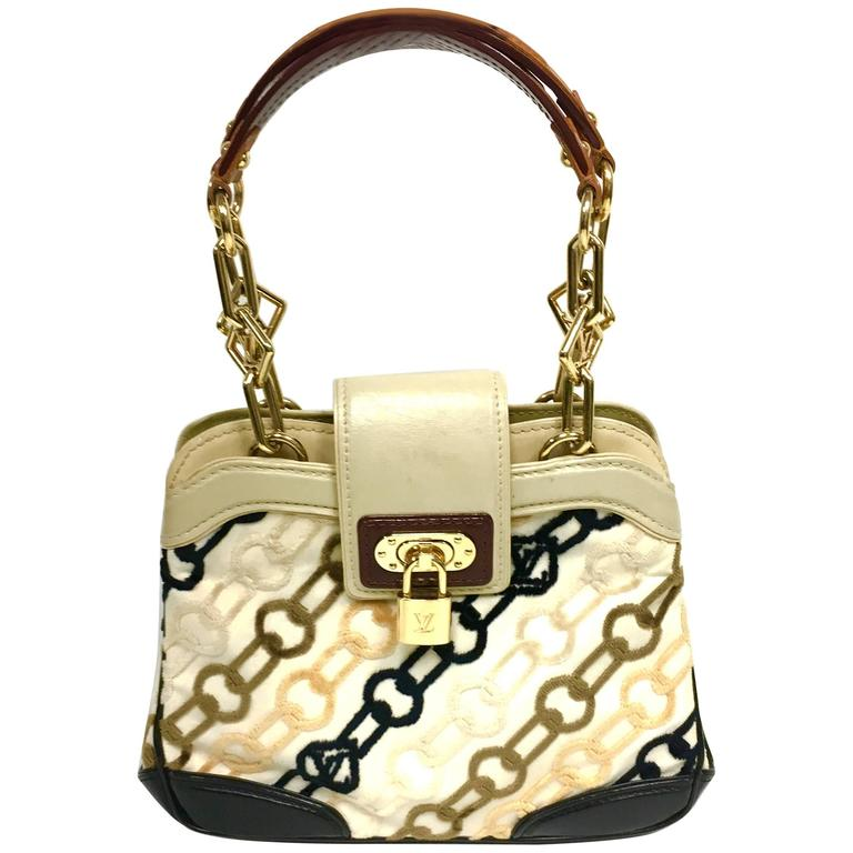 LOUIS VUITTON Limited Edition Monogram Charms Velvet Chains Mini Linda Bag