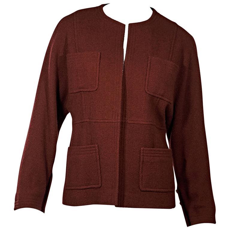 Red Vintage Chanel Jacket