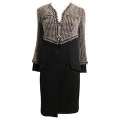 Chanel Black and Grey Coat