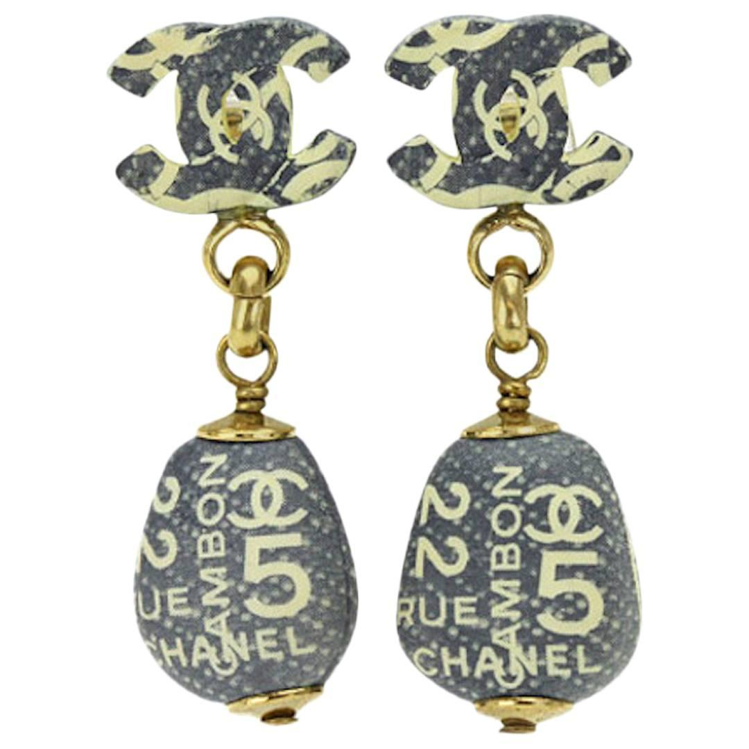 Chanel Vintage Rue Cambon No 5 Ivory Dangle Drop Evening Charm ...