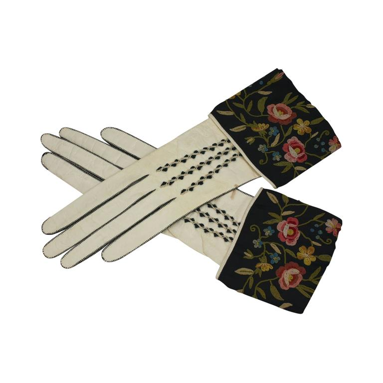 Art Deco Embroidered Gloves 1