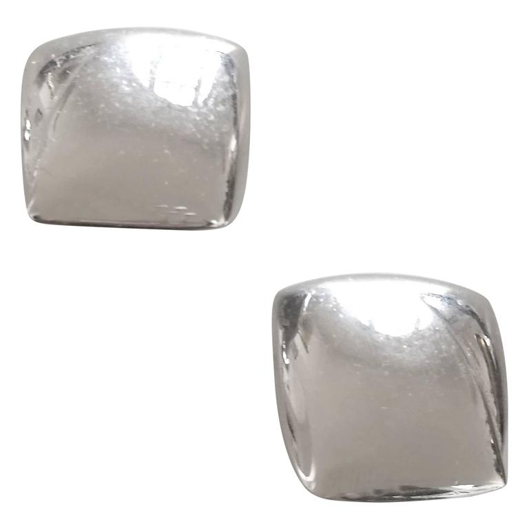 Monet Silver tone Clip on earrings For Sale