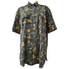 Azzedine Alaia Camouflage Oversize Shirt / Dress