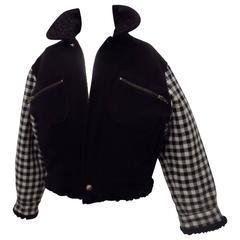 Gianni Versace pied de poule black jacket