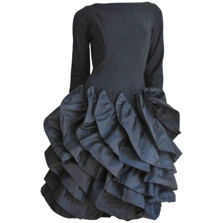 1950s Betty Carol Stunning Sculptural Dress