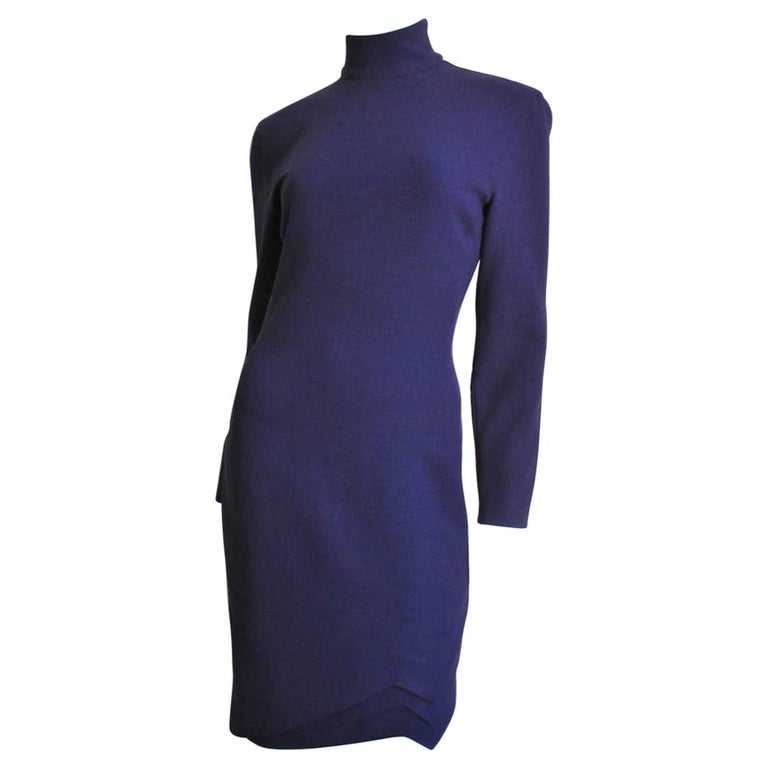 Gianni Versace Size 8 Dress 1990s Origami Hem
