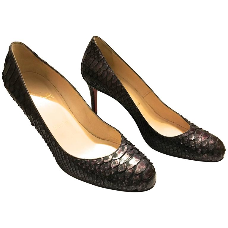 Christian Louboutin Python Heels - Size 37.5 1