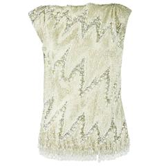 YSL Metallic Heavily Beaded Top - 36, 1990s