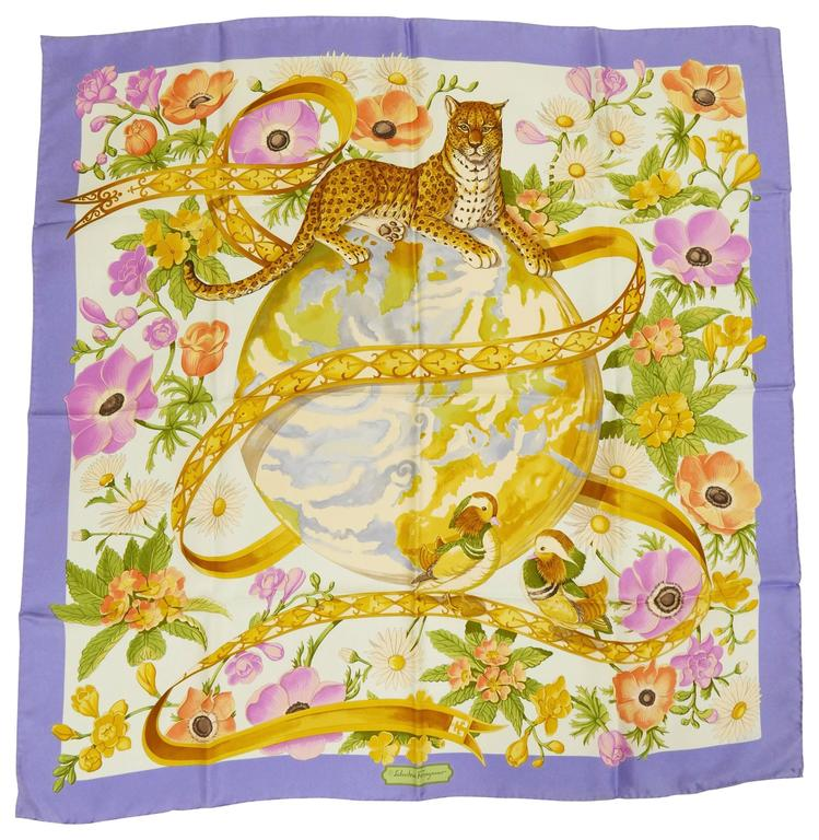 exotic animal print scarf - Yellow & Orange Salvatore Ferragamo xtfS8