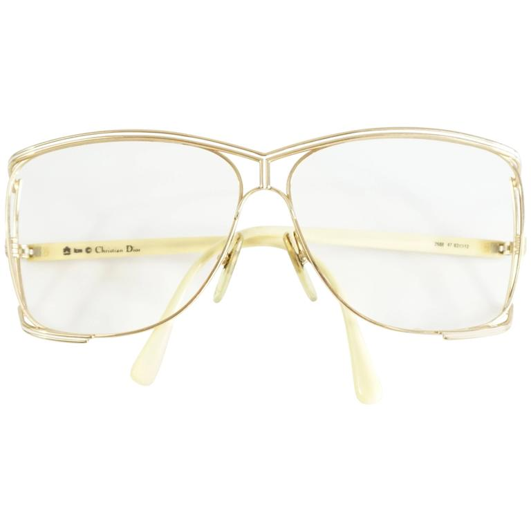 Christian Dior Gold Thin Frames - 1970's 1