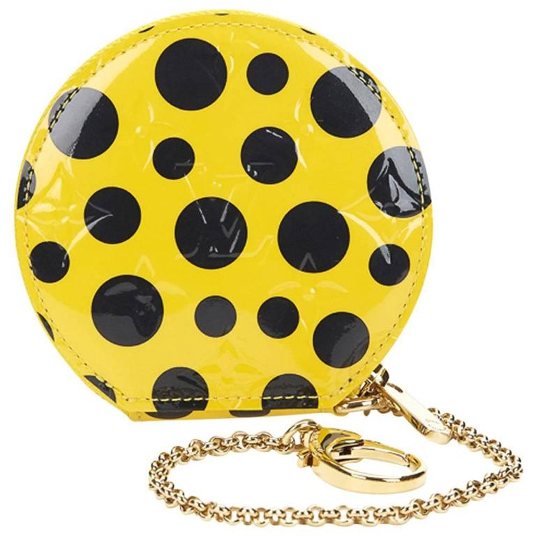 2010s Louis Vuitton Vernis Leather Dots Infinity Juane Yayoi Kusama Round Coin  1