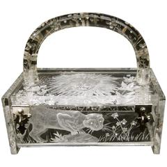 Museum Worthy Artisan Lucite Box Purse Designed by Joyce Francis