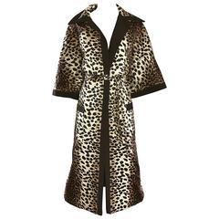 1960s Lilli Ann Leopard Cheetah Print Vintage Fabulous 60s Trench Jacket Coat