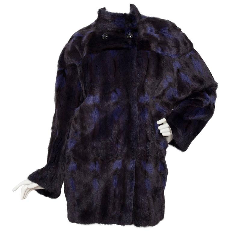 A 1980s Celine Dyed Mink Fur Coat