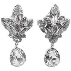 Vintage Eisenberg Crystal Drop Earrings