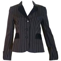 Moschino Cheap and Chic Stripped Blazer (44 (ITL)
