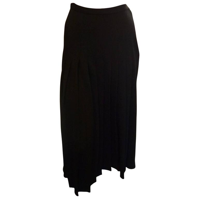 4942d44f9b 1980s Sonia Rykiel Wool Pleated Skirt For Sale at 1stdibs
