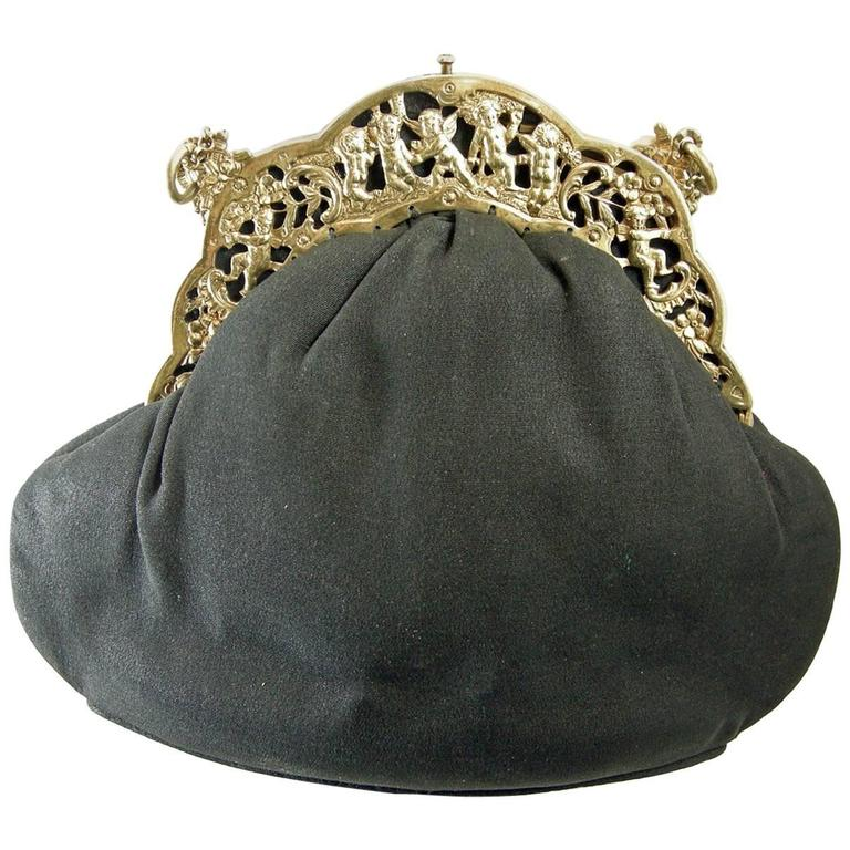 sterling Cherub Vintage Evening bag, 1930s