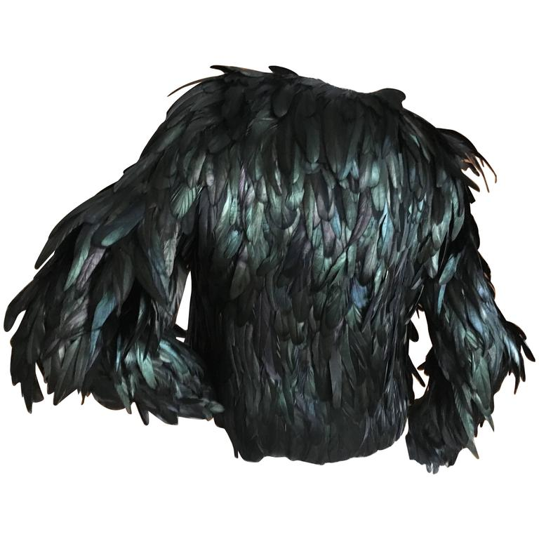 b1583025b8d Gucci Iridescent Coq Feather Jacket For Sale. Amazing ...
