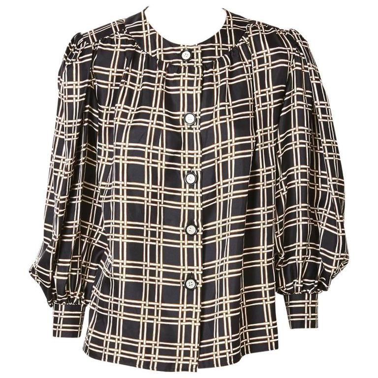 Yves Saint Laurent Smock Style Blouse For Sale