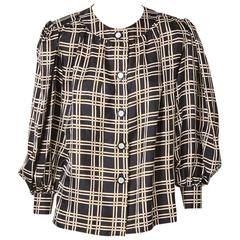 Yves Saint Laurent Smock Style Blouse