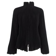 Alexander McQueen accordion pleated evening jacket, circa 2004